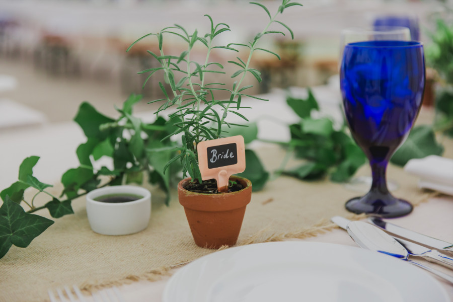 botanical wedding favours