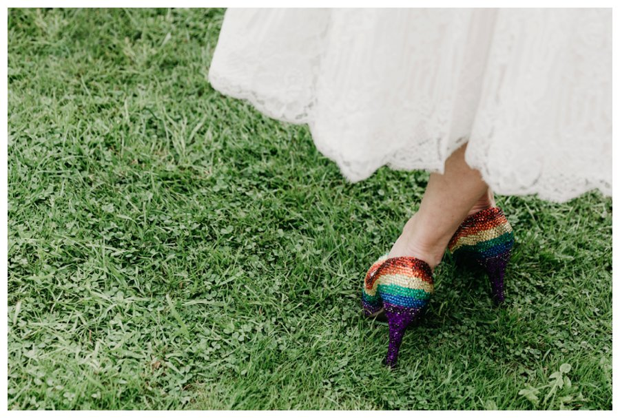 rainbow wedding shoes