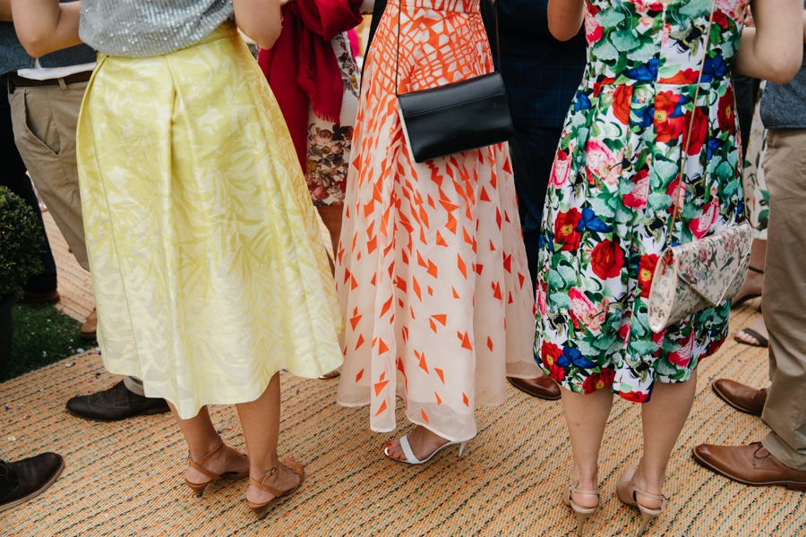 colourful skirts at wedding