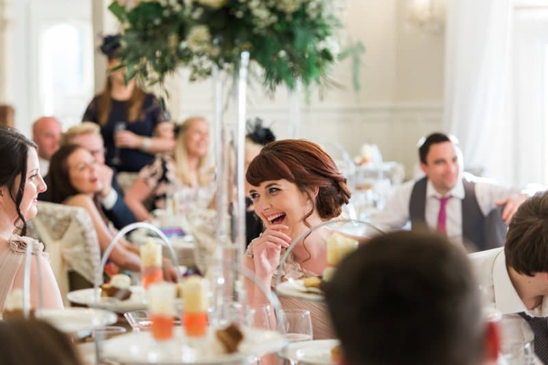 bridemaid laughing