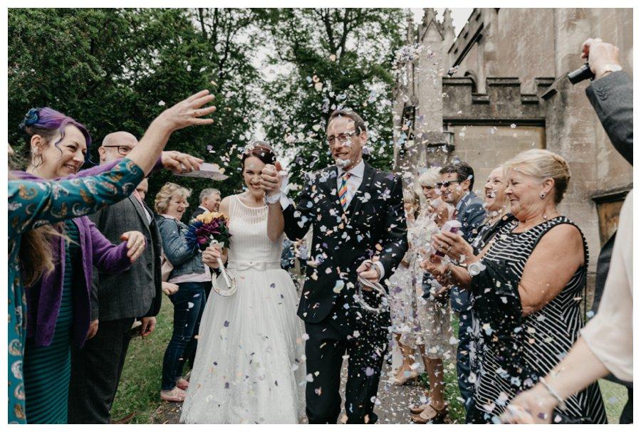couple in confetti