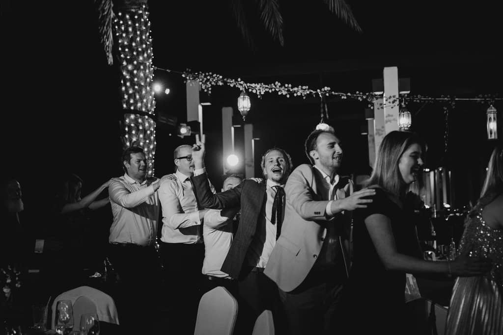wedding conga line