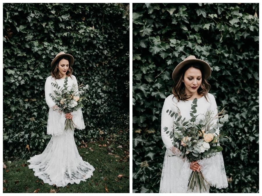 Bohemian Wedding bride