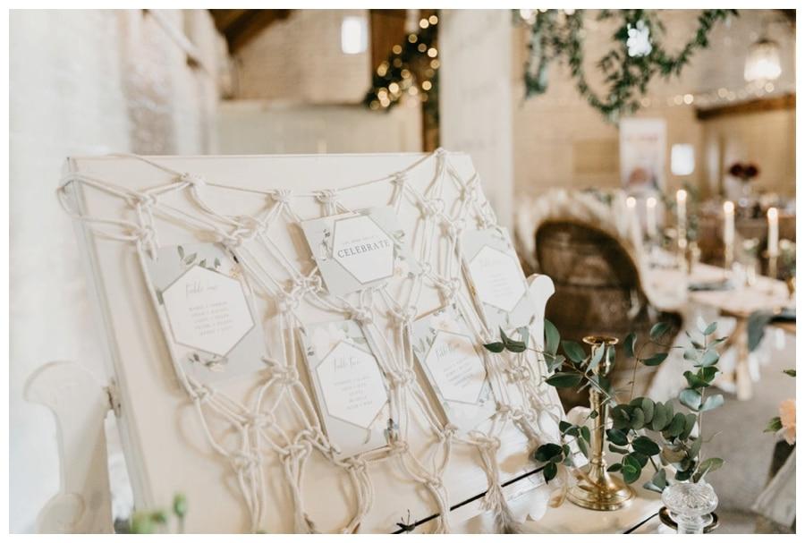 macrame wedding table plan
