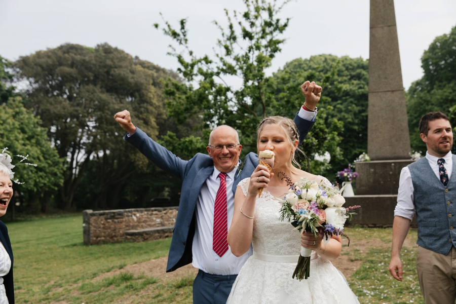 happy father of bride