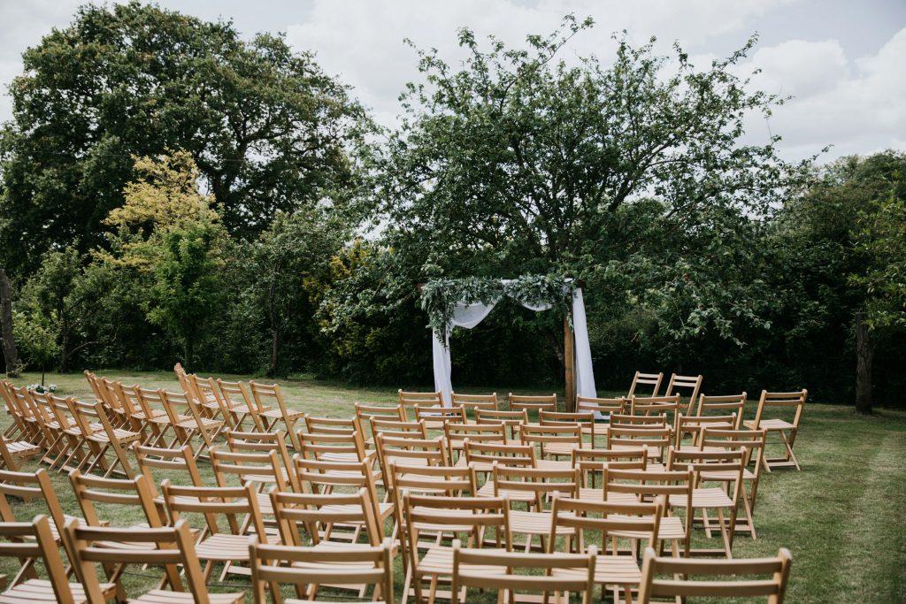 wedding floral archway