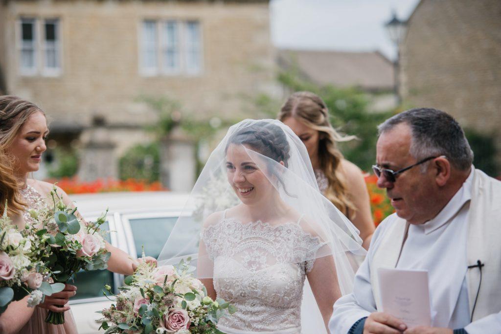 bride arriving
