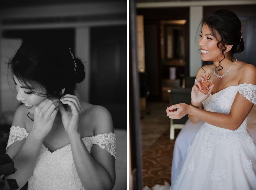 smiling bride